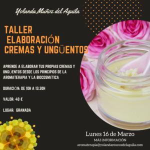 Taller elaboracion de Cremas y Unguentos econaturales
