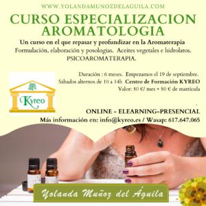 Curso Especialización AROMATOLOGIA. Online, Streaming y Presencial @ Kyreo